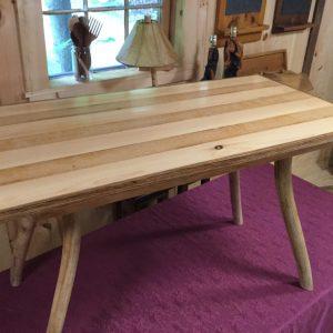 Re-sawn oak and Pine strips